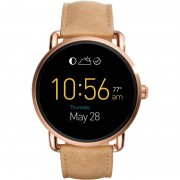 Fossil Q Wander Smartwatch (Rose Gold/Brown Leather)